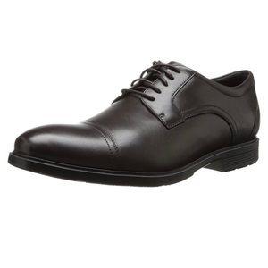Black Leather Men's Captoe Oxford